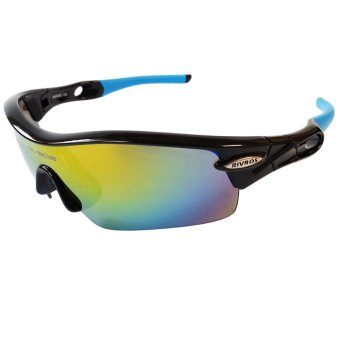 Fury Rivbos 0805 Multi Lens Sports Sunglasses (Black / Blue) Price Philippines