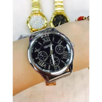 Geneva Silver/Black Roman Numerals Wrist Watch Price Philippines