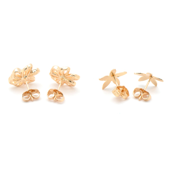 Harga Piedras Addie 01 Two In One Earrings (Yellow Gold)