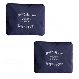 Wind Blows Folding Carry Bag (Navy Blue) Set Of 2 Price Philippines