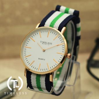 Timeless Manila Carl Nylon Adjustable Watch (White/Blue/Green) Price Philippines
