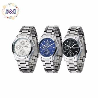 Harga NARY Men's Digital Stainless Steel Quartz Watch C-NR-6104-Black Steel Set of 3