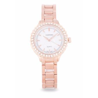 Harga Valentino Rose Gold Stainless Band Women'S Watch 20121960-Rose Gold - Mop Dial