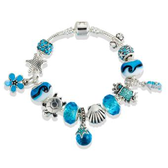 Harga Rising Star Europe and the United States trendy 925 Silver Pandora charm bracelet crystal bracelet B16194
