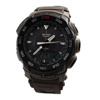 Harga Casio Watch Pro Trek Tough Solar Black Stainless-Steel Case Resin Strap Mens NWT + Warranty PRG-550B-5D