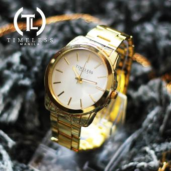 Timeless Manila Cheska Classic Linear Metal Watch (White) Price Philippines