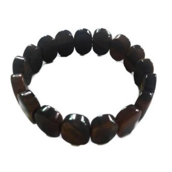 Harga Be Lucky Charms Feng Shui Oval Crystal Tiger Eye Bracelet