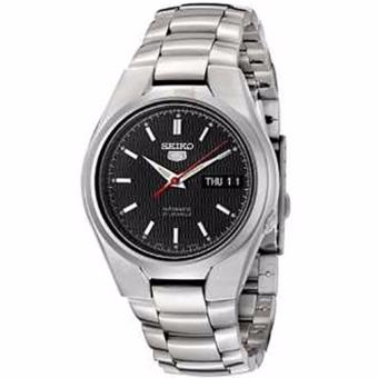 Harga Seiko 5 Black Dial Stainless Steel Automatic Men's Watch SNK607K1
