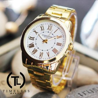 Timeless Manila Callie Roman Numeral Metal Watch (White) Price Philippines