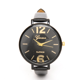Slim Chick Leather Strap Watch Black Price Philippines