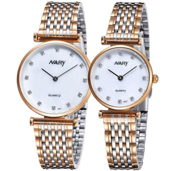 Harga NARY 1907 Couple Stainless Steel Strap Watch