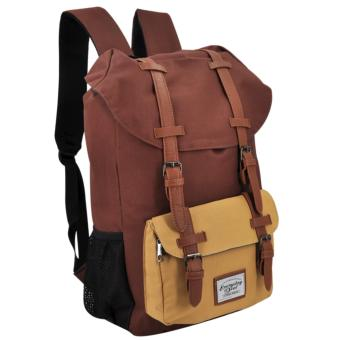 Harga Everyday Deal Travel Laptop Backpack (Brown/Cream)