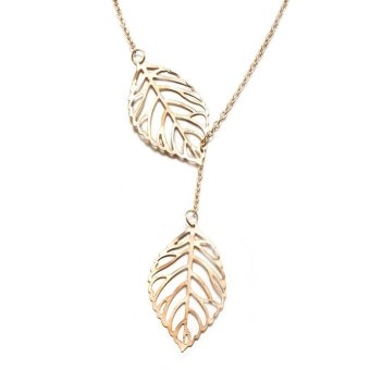 Leaf Pendant Necklace For Women - intl Price Philippines