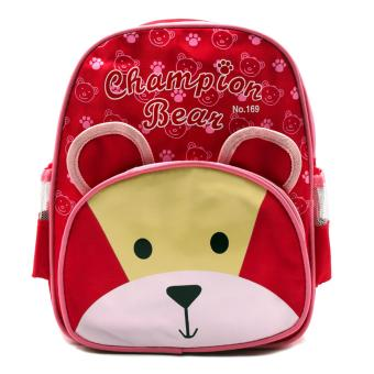 Harga HAPPY KIDS Trendy Kids Girls Backpack Outdoor Bag (Bear Design)