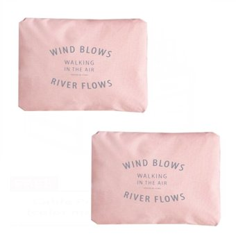 Wind Blows Folding Carry Bag (Peach) Set Of 2 Price Philippines
