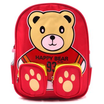 Harga Happy Kids Unisex Kids Schoolbag Backpack Outdoor Bag (Bear Design)