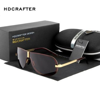 Harga HDCRAFTER Celebrity Retro Fashion Men's Lady Sunglasses Outdoor Driving Polarized Sunglasses - intl