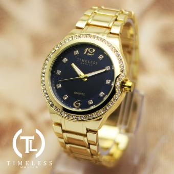 Timeless Manila Patricia Crystal Studded Metal Watch (Navy Blue) Price Philippines