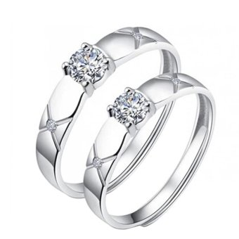 One Pair Couple Rings Silverl Wedding Bands Promise Love Frost gifts Rings Price Philippines