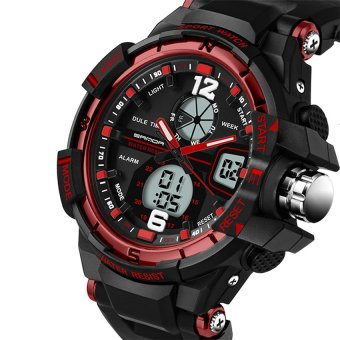 SANDA 289 Fashion Outdoor Multifunctional Sports Men'S Electronic Watch(red) Price Philippines