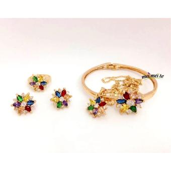 Harga MEI MEI Multicolor Flower 14k Bangkok Jewelry Set