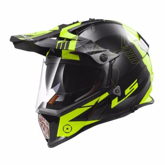 Harga LS2 Motard MX436 Trigger Helmet (Black/Yellow)