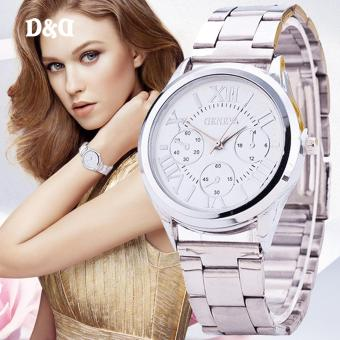 Geneva SY-3 Roman Numerals Women's Silver Steel-belt Watch Price Philippines