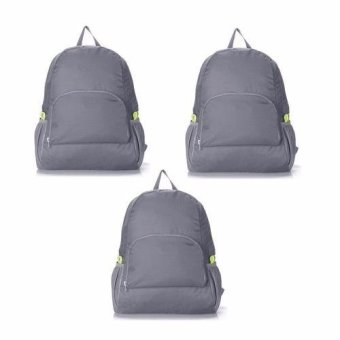 Folding Back Bag (Gray) Set of 3 Price Philippines