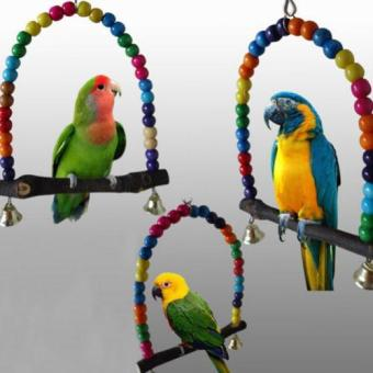 Swing Bird Toy Parrot Cage Toys Finch Parakeet Cockatiel Lovebird Budgie - intl Price Philippines