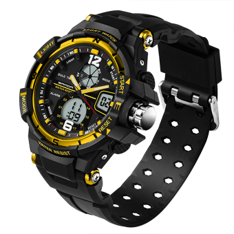 SANDA 289 Fashion Outdoor Multifunctional Sports Men'S Electronic Watch(gold) Price Philippines