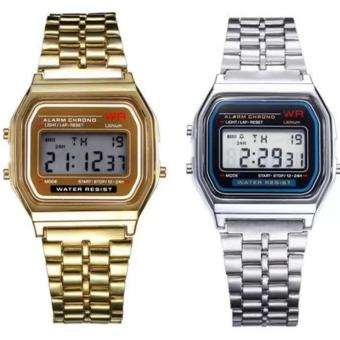 Harga Landfox Women's (Gold/Sliver) Stainless Steel Strap Watch Set of 2