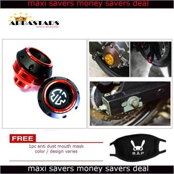 Motorcycle Axle Nut Cover Axel Nut Universal Cap Red Orange Modified for Yamaha Vega Force i Price Philippines