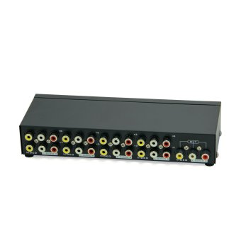 Harga MT-VIKI 8-Way AV Switch RCA Switcher 8 In 1 Out Composite Video L/R Audio Selector Box for DVD STB Game Consoles