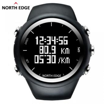 Harga NORTH EDGE GPS Running Sports Digital Watch Men and Women Smart Watch for Swimming Diving Sailing Hiking Waterproof 5atm Distance Calories - intl