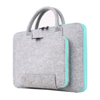 Harga HomeBetter 2016 New Felt Universal 11 13 15 17 Inch Laptop Bag Notebook Case Briefcase Handlebag Pouch For Macbook Air Pro Retina Men Women, 17 inch +Blue - Intl