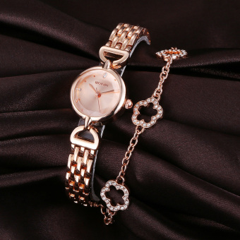 Harga WEIQIN Women Fashion Accessories Watches Steel Strip Rose Gold Rose Gold 261301 - Intl - intl