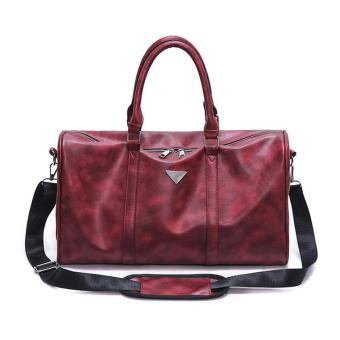 360WISH Large Capacity Unisex Waterproof PU Gym Shoulder Bag Handbag Travel Bag - Wine Red - intl Price Philippines