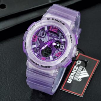 Harga D-ZINER Lady Gaga Sporty Watch for Ladies (VIOLET)