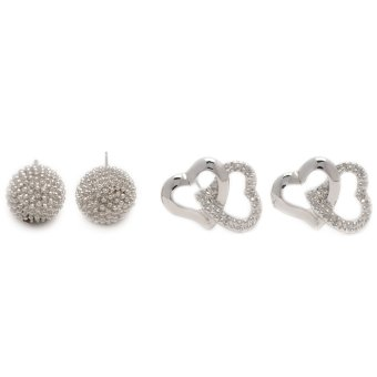 Harga Piedras Two in One Earrings (White Gold)
