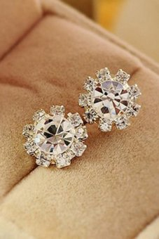 Amango Women Stud Earrings Crystal Flower Silver Price Philippines