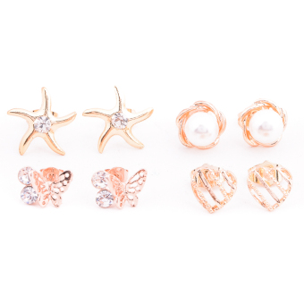 Harga Piedras Paug13 Earrings (Gold)