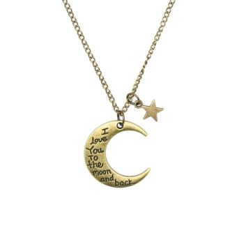 Patrick Lovebird I Love You To The Moon and Back Long Necklace (Antique Bronze) Price Philippines
