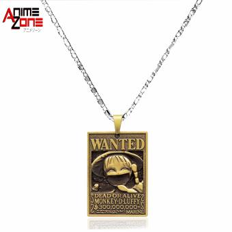 ANIME ZONE Wanted Monkey D. Luffy One Piece Anime Fashionable Pendant Necklace (Silver/ Gold) Price Philippines