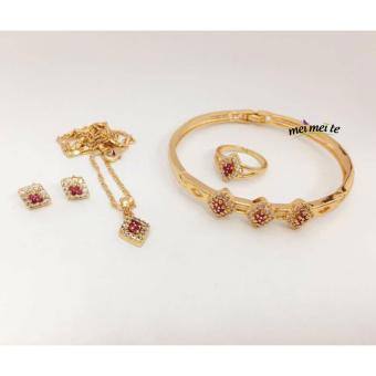 Harga MEI MEI Small Ruby Diamond 14k Bangkok Jewelry Set