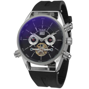 Harga Jargar Men Mechanical Automatic Dress Watch with Gift Box JAG448M3S1 (Black)