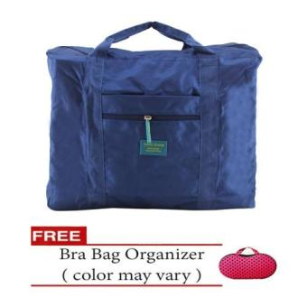 Harga Travel Season Bag (Navy Blue) with Free Bra Bag Organizer (Color May Vary)