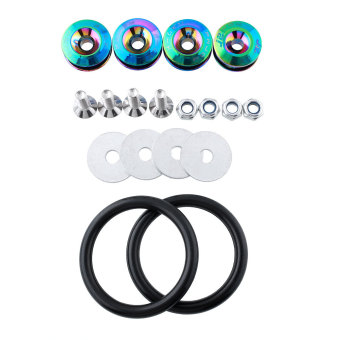 Harga Car Bumpers Quick Release Fasteners Fender Hatch Loop Ring Kit Rainbow