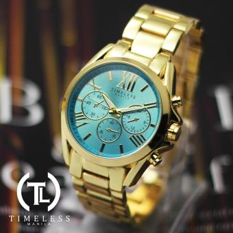 Timeless Manila Patricia Chrono Roman Numeral Metal Watch (Cyan) Price Philippines