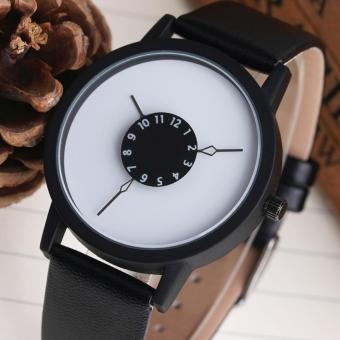 Harga Creative Fashion Simple Male and Female Student Watch Casual Belt Personalized Quartz Watch - intl