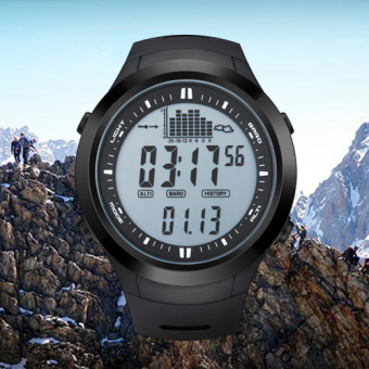 Harga NORTH EDGE digital watches Men Watch with Weather forecast Altimeter Barometer Thermometer Altitude for Climbing Hiking Fishing Outdoor sports /Grey screen